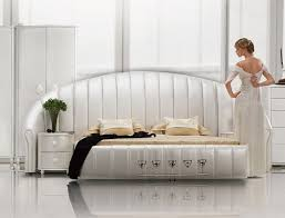 Best Cool Beds Images On Pinterest  Beds Cool Beds And - White tufted leather bedroom set