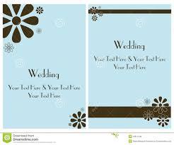 Card Invitation Set Wedding Invitation Card 2 Royalty Free Stock Photos Image