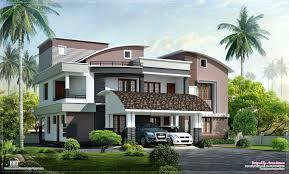Modern Style Luxury Villa Exterior Design Kerala Home Design And - Modern style homes design