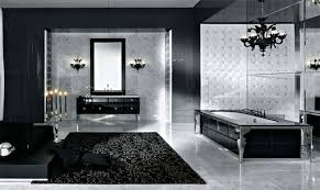 Black bathroom carpet