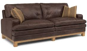 Chesterfield Sofa Leather by Fabric And Leather Combination Sofa Thesofa Sofa Leather Fabric