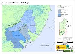 Hydrology Map Belize Foundation For Research And Environmental Education Maps