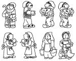 Imagenes de reyes magos para colear - Dibujos para colorear - IMAGIX