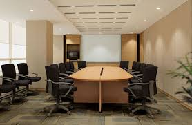 modern conference room table the furniture in an office reflects the work culture style and