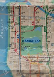 Subway Nyc Map by Folded New York City Subway Map With Selective Focus On Central