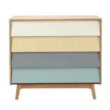 armoire vintage enfant commode vintage 4 tiroirs multicolore commodes maison du monde