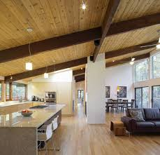 open plan kitchen living u0026 dining space deck house renovation in
