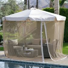 patio gazebos and canopies tuscan orange red 11 ft offset patio umbrella gazebo with canopy