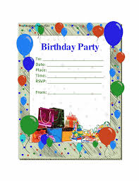 Birthday Invitation Cards For Kids Fearsome Free Birthday Party Invitation Templates Trends