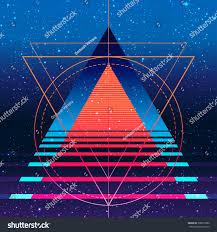 retro vintage 80s 90s geometric style stock vector 398379982