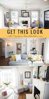 Farm Style Living Room by Get This Look Contemporary Farmhouse Living Room The Fixer