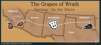 Route 66 Arizona Map by The Grapes Of Wrath Setting