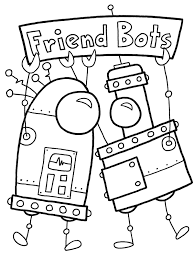 robot coloring pages getcoloringpages com