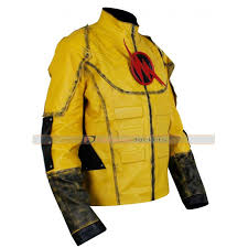 Flash Halloween Costumes Superhero Reverse Flash Leather Jacket Costume Sale