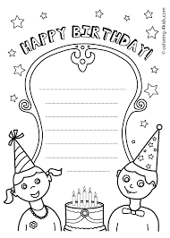 happy coloring pages of happy birthday 17 5999