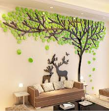 online get cheap crystal wall stickers aliexpress com alibaba group 2017 elk trees 3d stereo wall stickers living room sofa tv background crystal wall stickers room