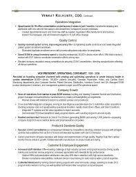 Director Of Operations Resume Sample by Coo Sample Resume Executive Resume Writer For Technology