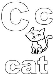 printable coloring pages alphabet c for cat alphabet coloring