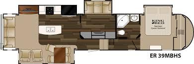 Fifth Wheel Bunkhouse Floor Plans Heartland Elkridge 2015 Er 39 Mbhs Has Second Tv Room With Loft