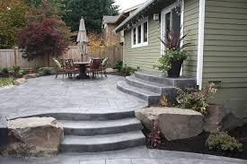 walkway ideas for backyard backyard concrete patio issaquah wa stamped concrete patio