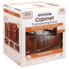 rust oleum transformations cabinet wood refinishing system kit