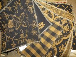 Furniture Upholstery Fabric by Black U0026 Mustard Upholstery Fabric Www Theredbrickcottage Com Rbc