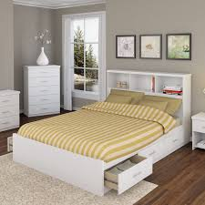 White Bookcase With Drawers by Modern White Wooden Queen Bed With Storage Drawers Of Queen