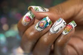 lacquer lockdown watercolor birds and floral nail art tutorial