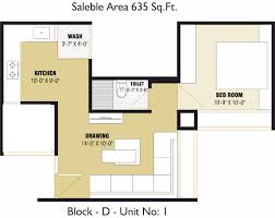 635 sq ft 1 bhk 1t apartment for sale in savvy infrastructures