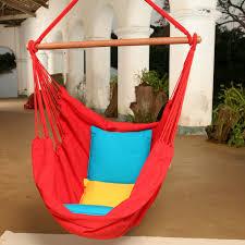 Macrame Hammock Chair Tropical Palm Stripe Soft Comfort Hanging Hammock Chair Hayneedle
