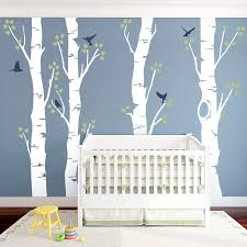 Bedroom Wall Decals Trees Wide Birch Trees Wall Decal