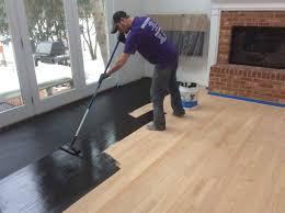 Hardwood Floor Restore How To Stain A Hardwood Floor Titandish Decoration