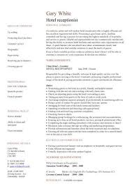 hotel receptionist resume sample with personal summary and work Dawtek Resume and     FAMU Online