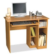 amazon com computer workstation w desk u0026 open cubbies basic