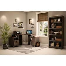 south shore essentials collection four shelf bookcase chocolate