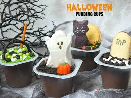 graveyard pudding cups party pinching