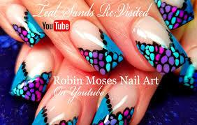Robin Moses Nail Art by Robin Moses Nail Art Easy Diy Dot French Mani Teal Sands