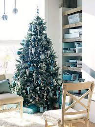 blue green christmas tree decorations