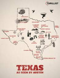 Texas Map Austin by Texas As Seen By Austin Thrillist