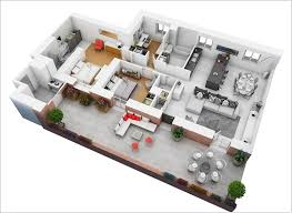 Two Bedroom Apartment Floor Plans 10 Awesome Two Bedroom Apartment 3d Floor Plans Open Plan