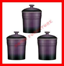 28 purple kitchen canister sets fleur de lis kitchen purple kitchen canister sets 3 pc kitchen canister jar storage stoneware set purple ebay