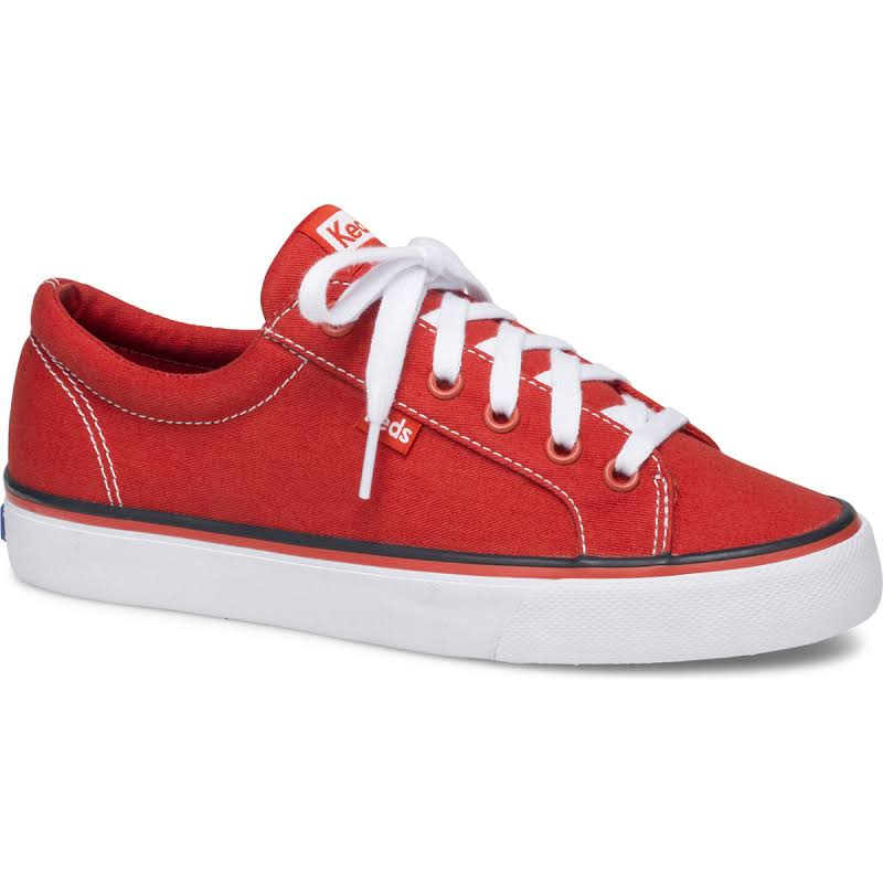 Keds Jump Kick Floral Red Ankle-High Canvas Sneaker 8M