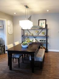 contemporary dining room grey solid hardwood frame with corner