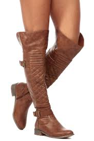 womens black leather biker boots tan faux leather over the knee quilted biker boots cicihot boots