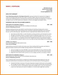 Summary Sample Resume by 9 Executive Summary Sample Resume Reference