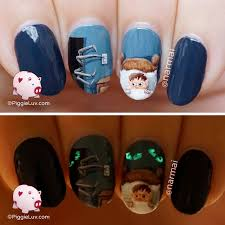 piggieluv afraid of the dark nail art for halloween