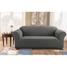 sure fit simple stretch subway one piece sofa slipcover walmart com