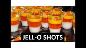 how to make candy corn jello shots youtube