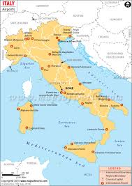 Map Of Italy Regions by Airports In Italy Italy Airports Map