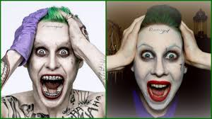 the joker jared leto easy halloween makeup tutorial youtube